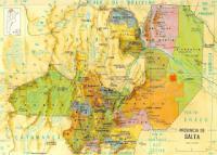 Provincia de Salta Map
