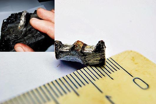 Teria esta peça de alumínio trabalhado 300 milhões de anos?