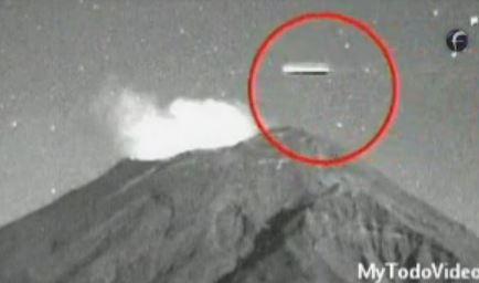 OVNI sobrevoa Popocatepetl