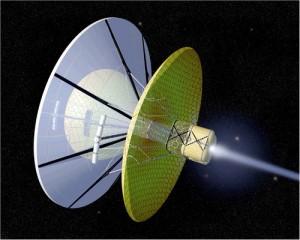 Bussard ram-jet interstellar drive. Imagem: NASA.