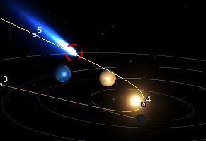 Posição do Cometa ISON em 11 de dezembro de 2013.