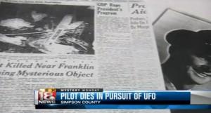 Piloto morre enquanto perseguia OVNI nos EUA em 1948