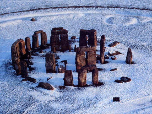 O famoso monumento britânico de Stonehenge