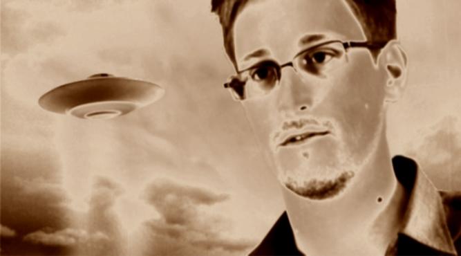 Teria Snowden inconscientemente falado sobre uma guerra espacial de 'bandeira falsa'?   Snowden-ovni