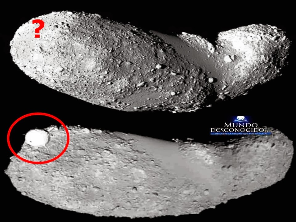 Misterioso objeto esférico é fotografado junto com asteroide Itokawa.