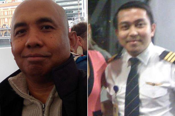 Capitão Zaharie Ahmad Shah (esquerda) e Fariq Abdul Hamid, co-piloto, ambos suspeitos de envolvimento no desaparecimento do Voo 370.