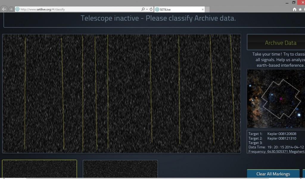 SETI Live Kepler-186f marked