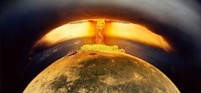 explosão nuclear na Lua
