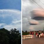Nuvens lenticulares causam pânico no Texas, EUA