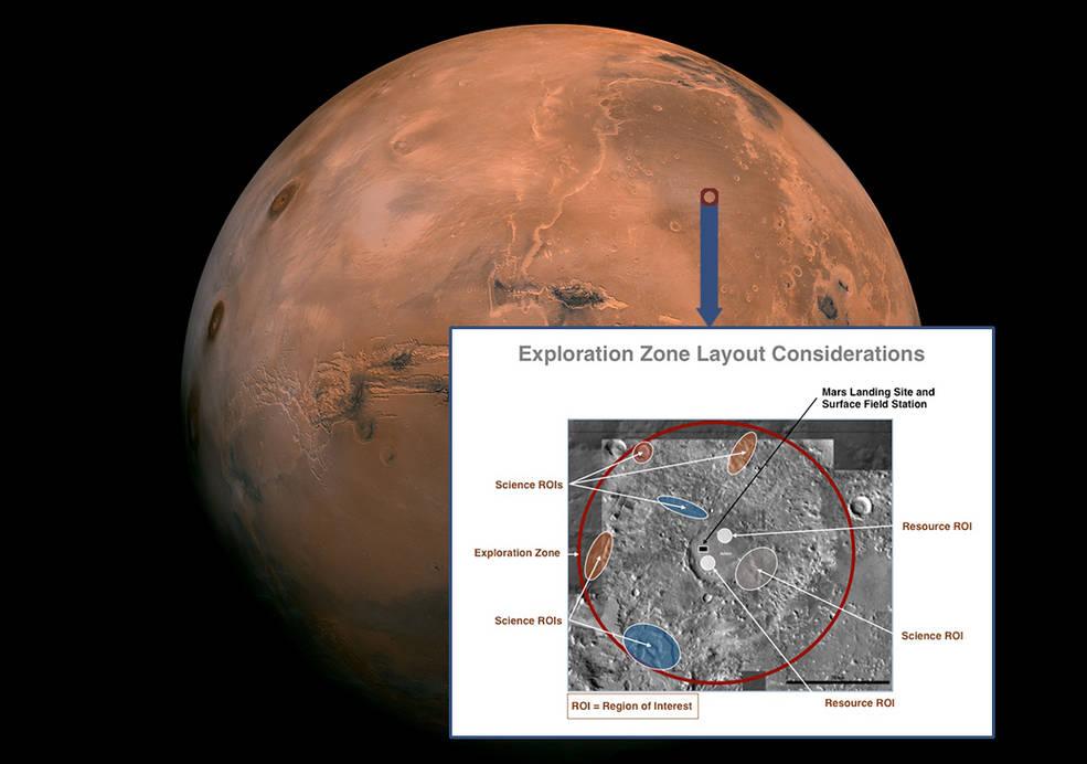 Região da escolha do primeiro local de pouso em Marte.