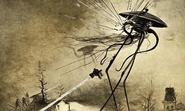Se encontrarmos a vida extraterrestre, o que acontecerá depois?  Uma ilustração de marcianos atacando a Terra, da edição de 1906 de 'A Guerra dos Mundos', por H.G. Wells. Foto: Bettmann/Corbis