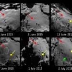 Algo estranho está acontecendo na superfície do Cometa 67P