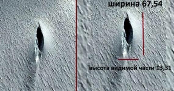 """Imagem do local da """"queda"""" do alegado OVNI, encontrada em fevereiro de 2012, no Google Earth."""