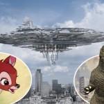 Como Bambi versus Godzilla, a humanidade não teria chance alguma contra uma invasão por ETs