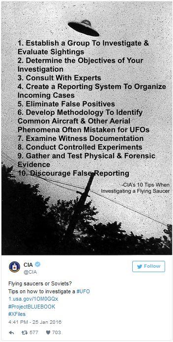 Dicas da CIA