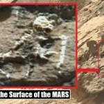 Seria este um esqueleto hominídeo na superfície de Marte?