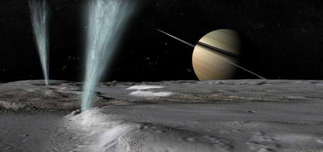 geiseres em lua de Saturno