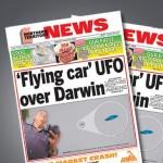 OVNI / UFO em formato de automóvel aparece no céu de cidade da Austrália