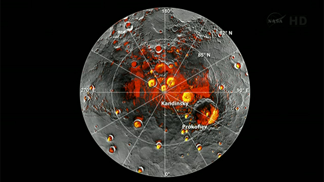 água em Mercúrio