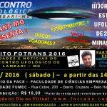 III Jornada de Estudos Ufológicos de 2016 em Minas Gerais