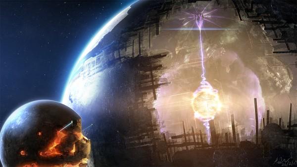 Estrela com megaestrutura alienígena