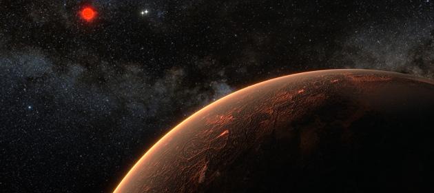 Renderização artística de Proxima Centauri b.