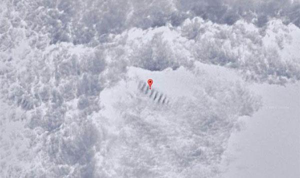 escadaria na Antártica