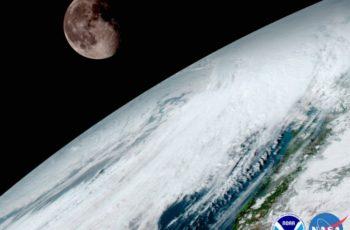Lua vista da órbita terrestre