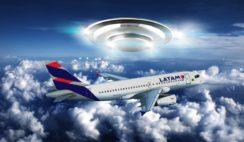 Avião da LATAM é seguido por OVNI
