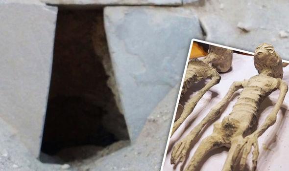 Túmulo onde múmias anômalas foram encontradas