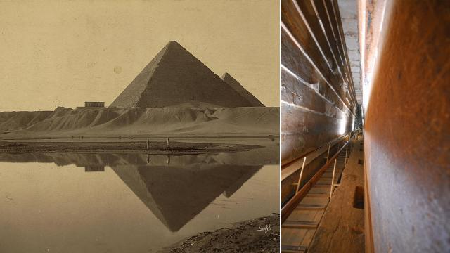 câmera secreta dentro da Grande Pirâmide