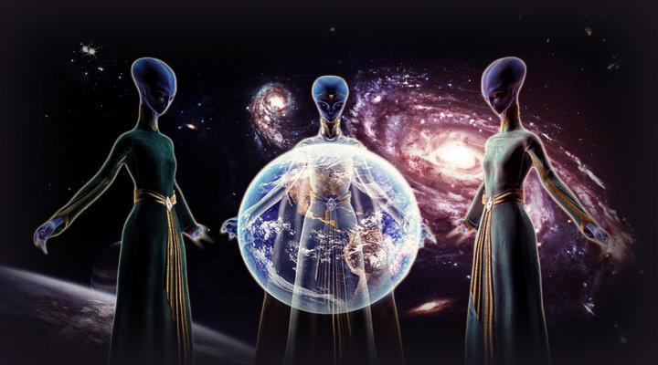 alienígenas que protegem a Terra
