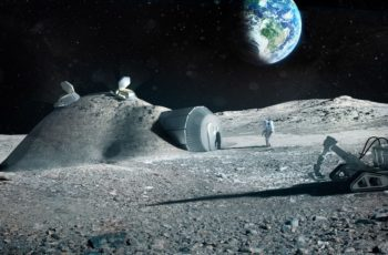 estação espacial ao redor da Lua