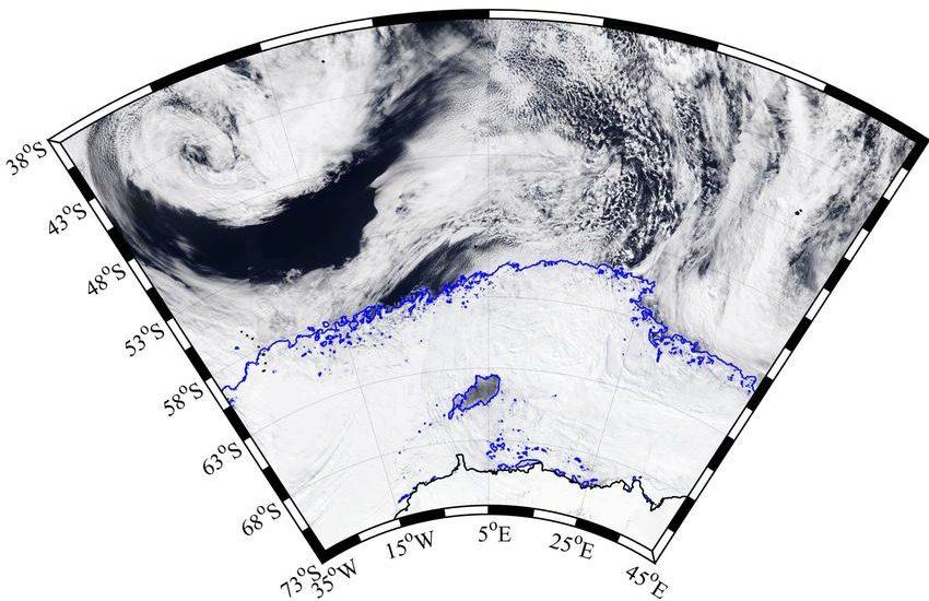 Gigantesco buraco abre na Antártica