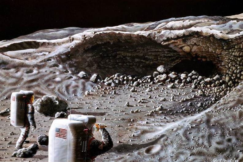 entrada para o subterrâneo da Lua
