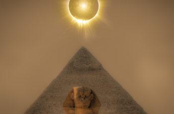 a Grande Pirâmide do Egito foca energia eletromagnética