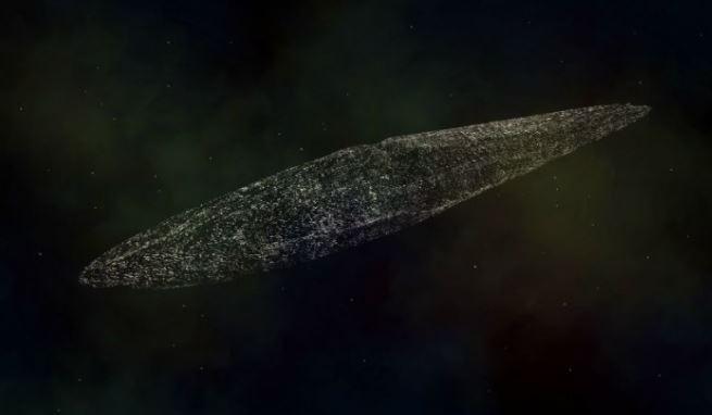 passado violento de objeto suspeito de ser nave alienígena