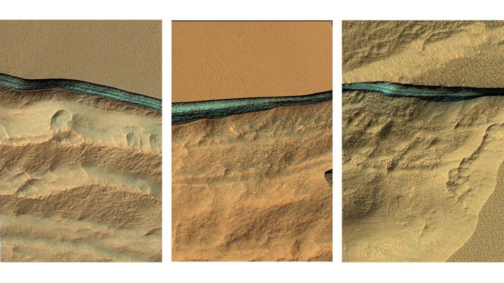 Oceanos de gelo são encontrados em Marte