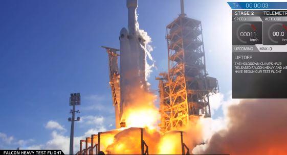 SpaceX lança foguete mais poderoso do mundo