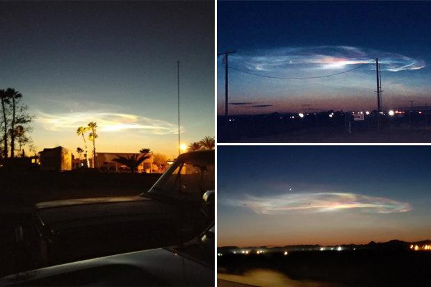 Nuvem bizarra sobre a Califórnia