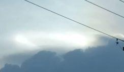 Fenômeno atmosférico como plasma em movimento