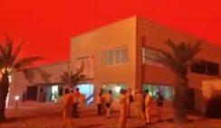 Céu fica vermelho como o sangue