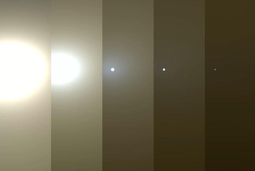 Tempestade em Marte intensifica