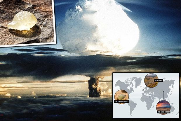 evidências de guerras atômicas na Terra há milhares de anos